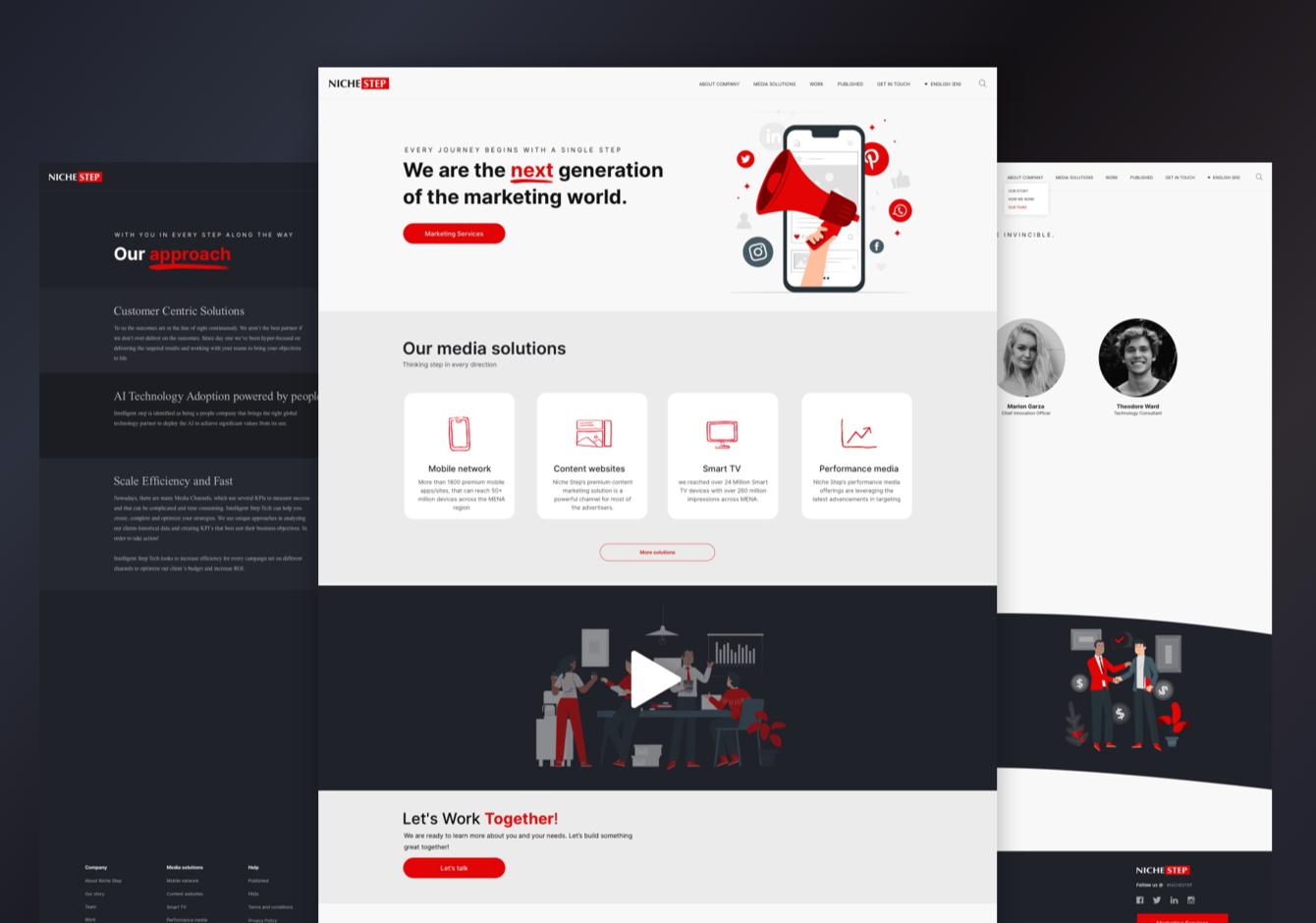 Marketing Company Website Design