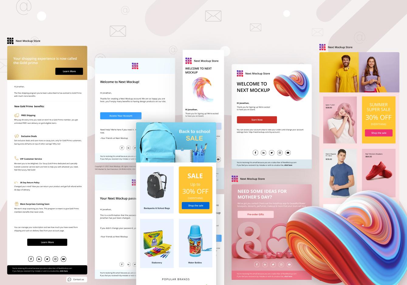 Light Emails & Newsletters Design
