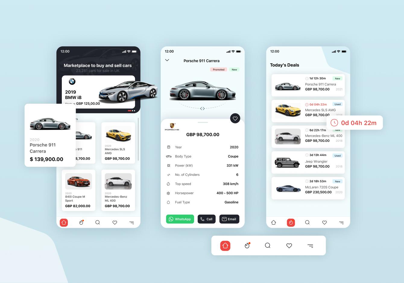 Light Car Marketplace UI Kit