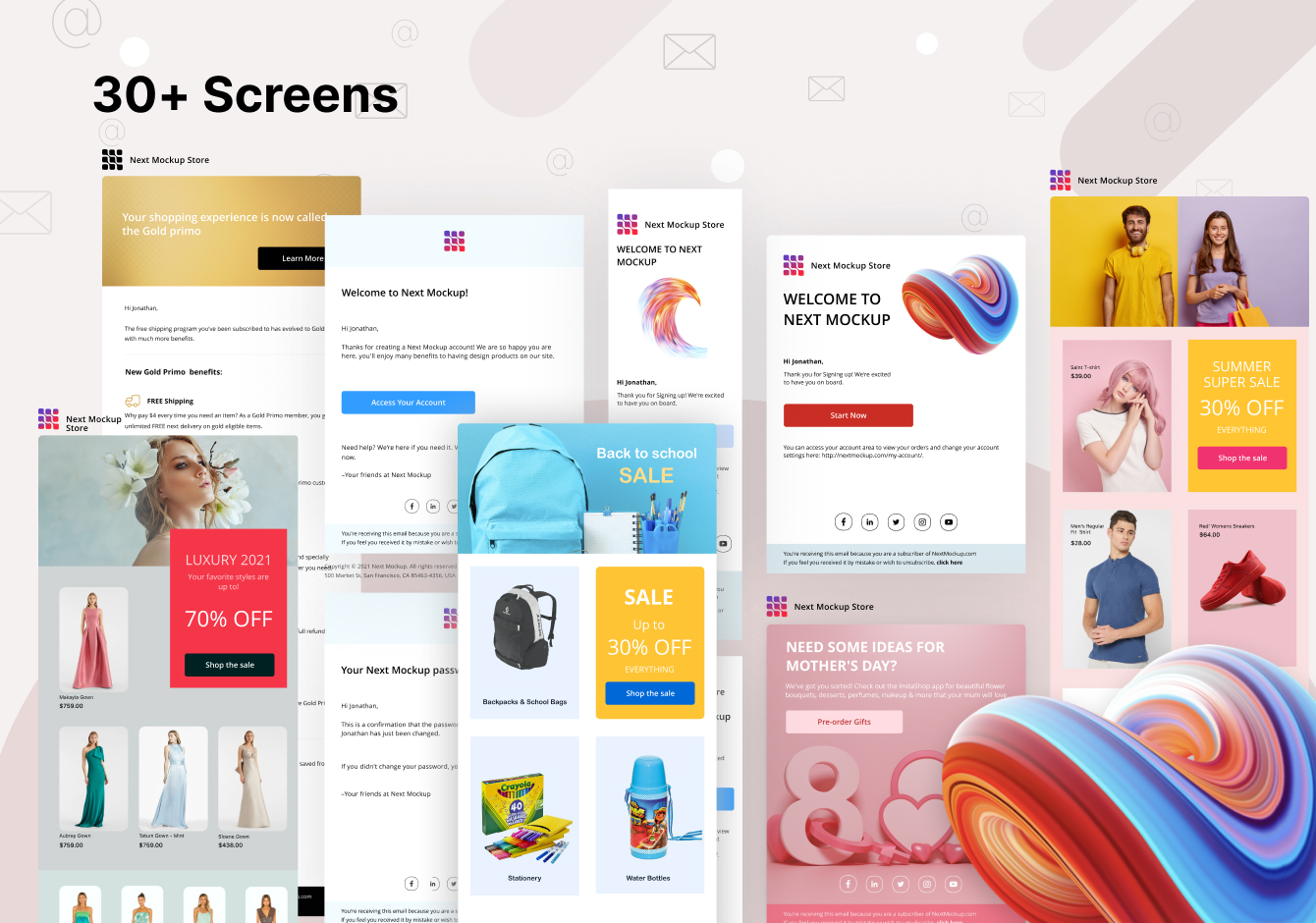 Emails & Newsletters Design