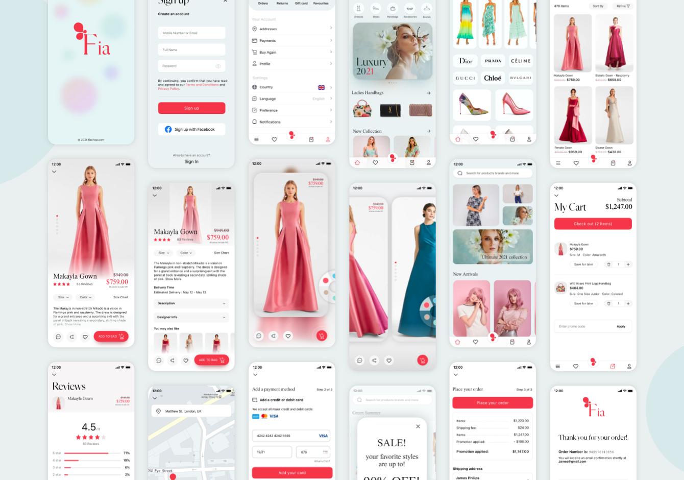 Light Fashion Ecommerce UI Kit