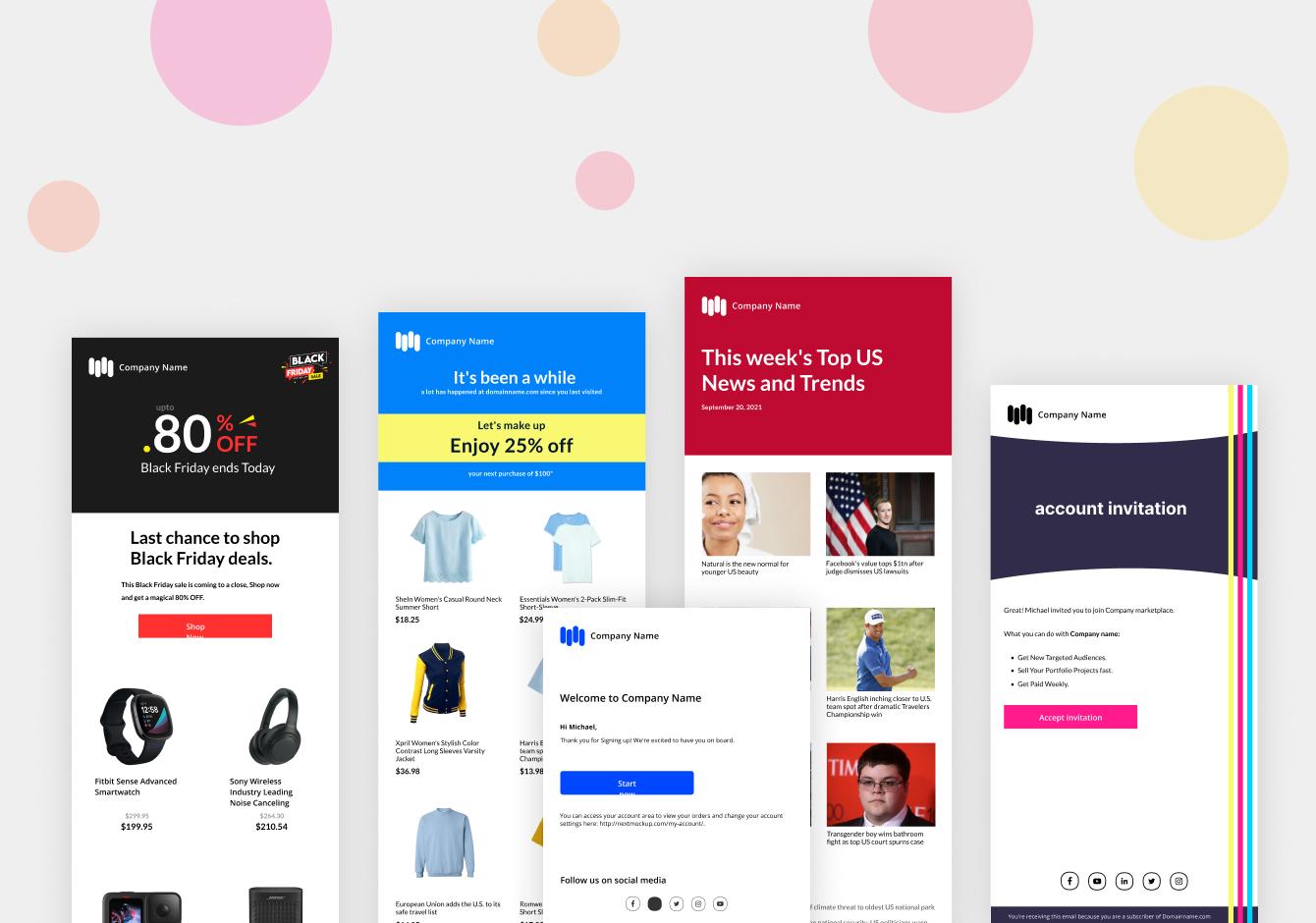 Light Startup Email Designs
